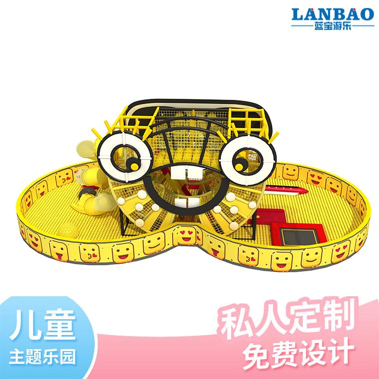 供应室内儿童创意笑脸淘气堡游乐设备 大型儿童游乐场设备批发