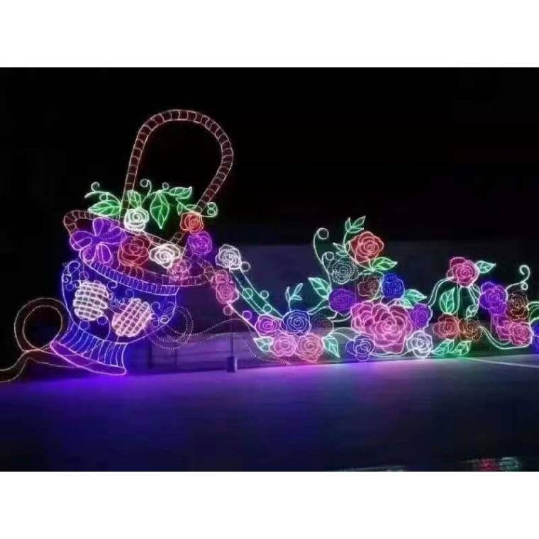 人類文明的進化夢幻燈光節制作新春夢幻燈光節制作