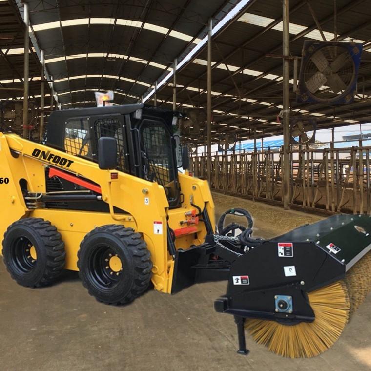 斜角清掃器 滑移裝載機屬具 路面清掃 清掃車 清雪車