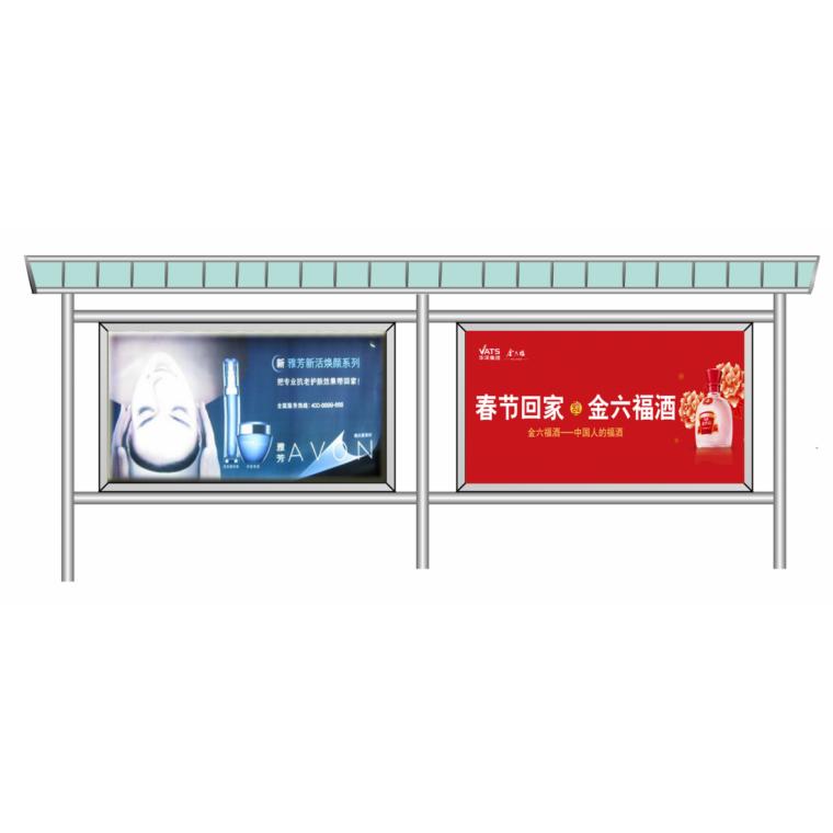 昆明公交車站臺廣告