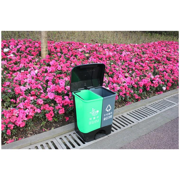 重庆大足环保分类垃圾桶塑料分类垃圾桶特价批发