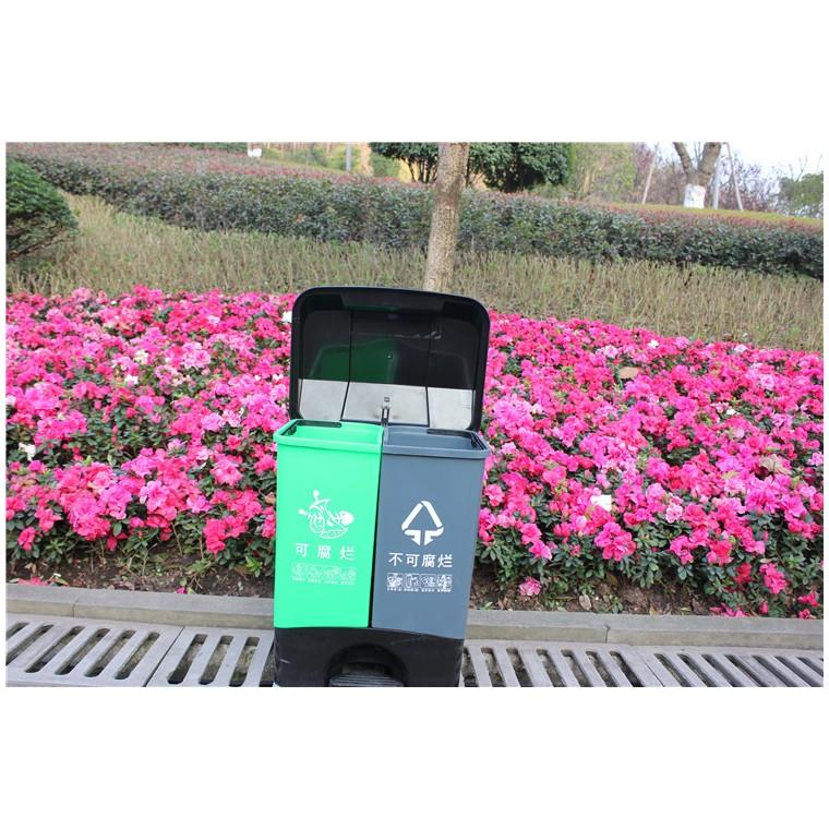 重庆涪陵室外塑料垃圾桶塑料分类垃圾桶特价批发