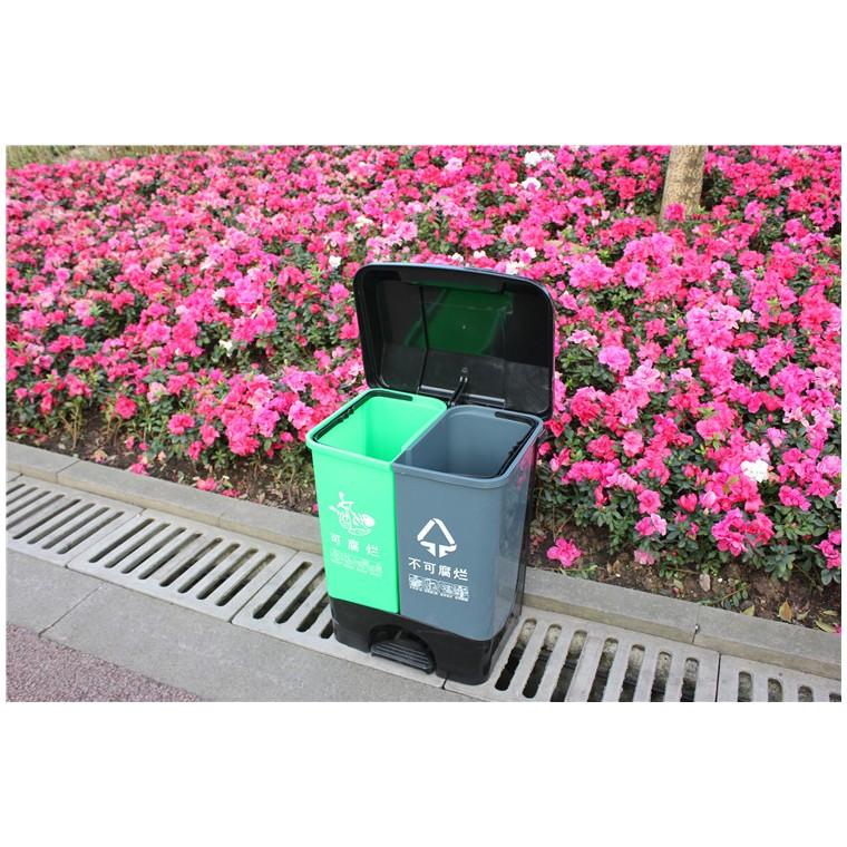 重庆南川室外塑料垃圾桶塑料分类垃圾桶厂家直销