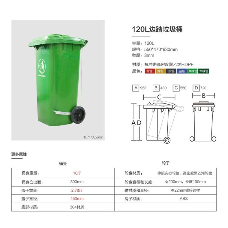重慶萬盛環保分類垃圾桶塑料分類垃圾桶