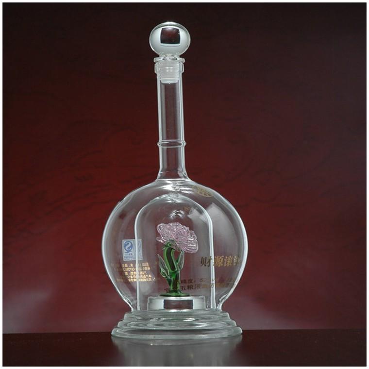高硼硅玻璃酒瓶,耐高溫手工藝酒瓶