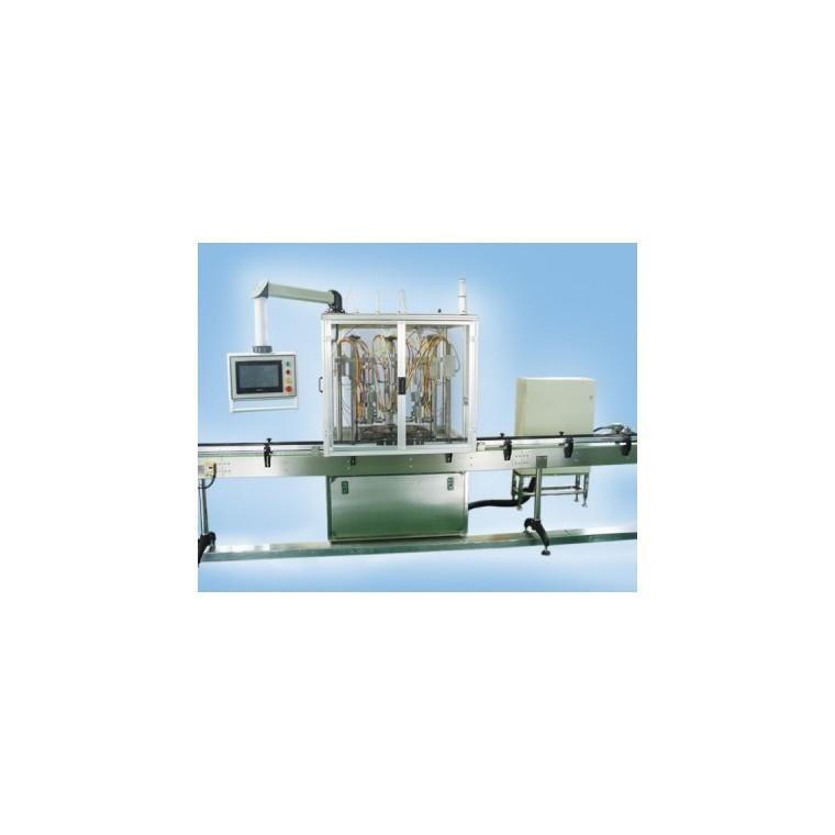 QGQGDY-3型三頭電控全自動氧氣蓋下灌裝機