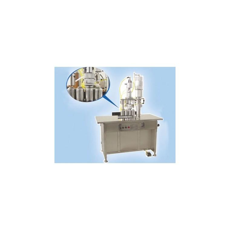 QGBS-500型三合一半自動氣霧劑灌裝機