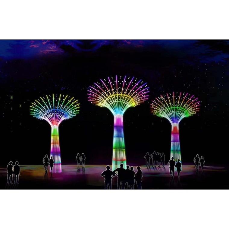 新春灯光节活动场地制作梦幻灯光节焕然一新