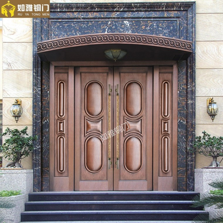 別墅防盜門高端銅門供應上海品質銅門窗加工