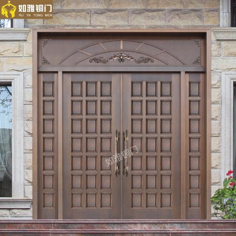 精品銅窗,別墅非標銅門,銅大門定做