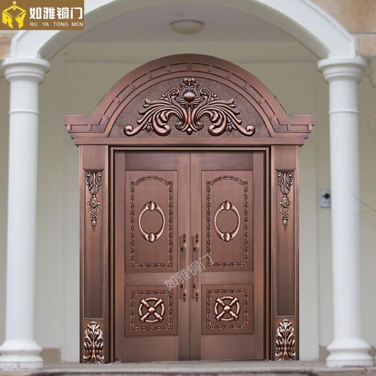 工藝銅門,上海別墅銅門,酒店銅門定制