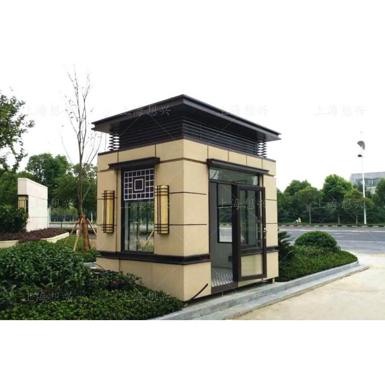 上海想興崗亭廠家直銷定制小區保安崗亭,真石漆保安亭