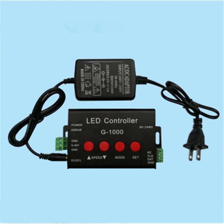 G1000幻彩燈條模組點光源SD卡編程LED控制器批發