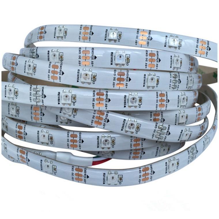 5V30燈單點單控6812IC幻彩LED燈條工程定制