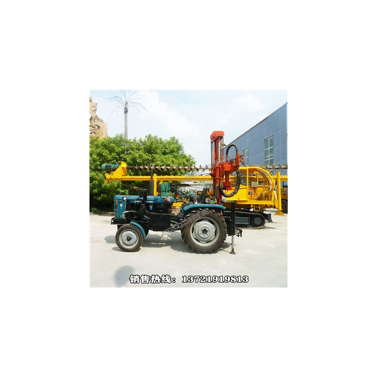 拖拉機氣動水井鉆機  全液壓氣動水井鉆機 高效率快速打井機