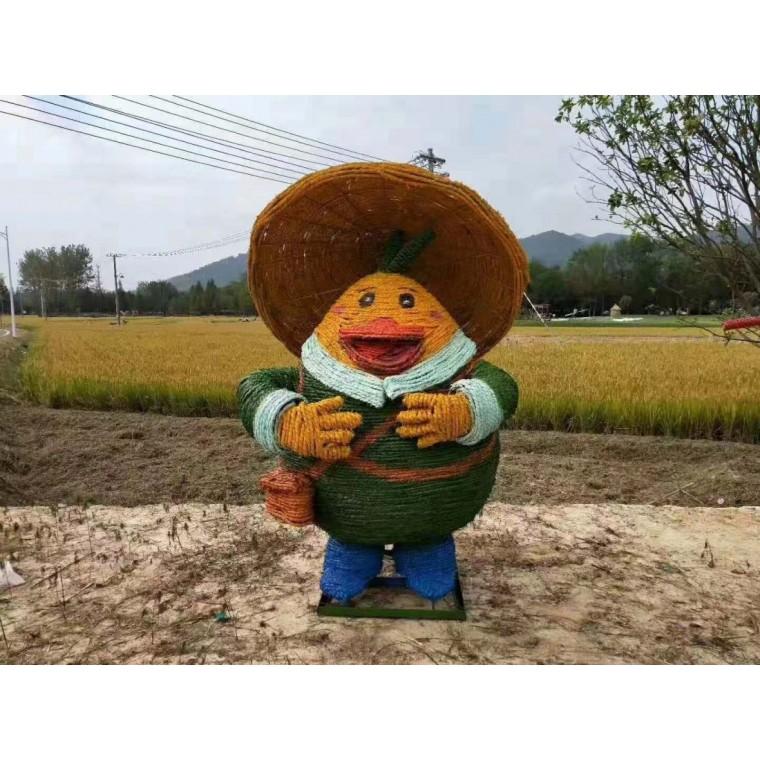 稻草工藝品手工制作卡通景點公園擺件稻草工藝品手工制作稻草