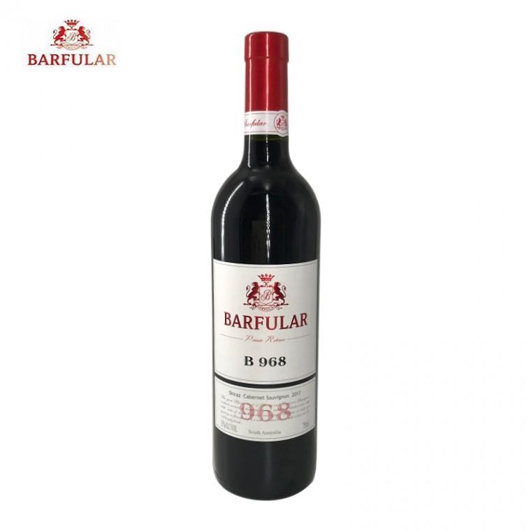 巴富樂B968西拉赤霞珠紅葡萄酒 澳大利亞原裝進口750ml