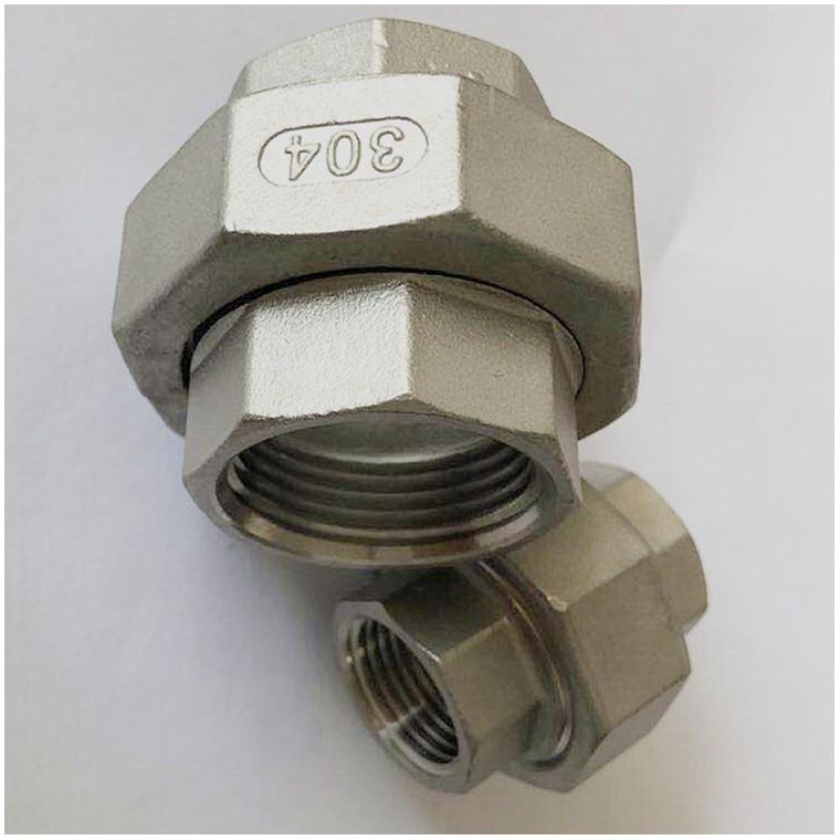 不銹鋼活接頭也叫由任 內螺紋活接 不銹鋼活接不銹鋼絲扣管件