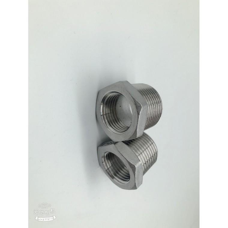 不銹鋼304補芯不銹鋼絲扣補芯六角補心內外螺紋接頭
