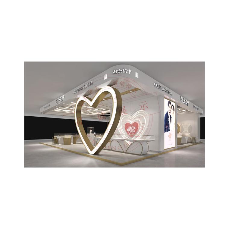 中金銀行珠寶展柜設計制作-首飾店面設計展柜制作-品誠展柜