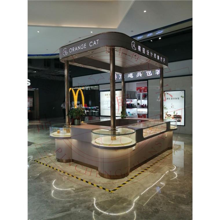 橘貓設計師集合店裝修設計-珠寶設計制作-品誠展示柜廠家