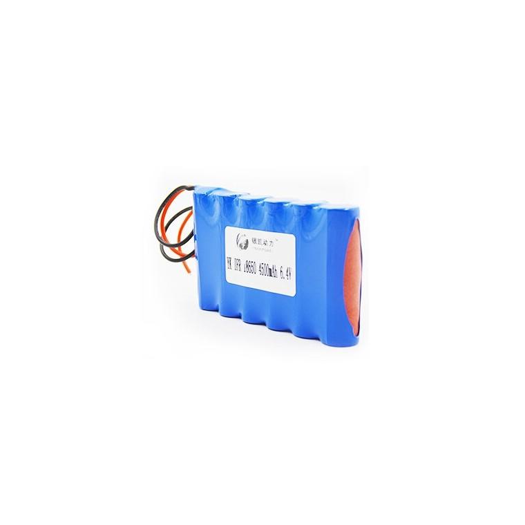 廠家可定制9.6V 6ah磷酸鐵鋰電池一體化路燈電池