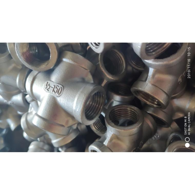 不銹鋼 304四通 多種工藝 水暖五金絲扣廠家直銷