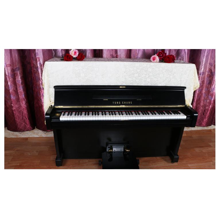 全披鋼琴罩 高端雙層鏤空蕾絲花邊防塵罩防塵布樂器配件電子琴罩