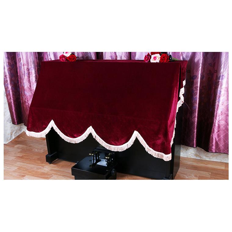 廠家直銷加厚金絲絨鋼琴罩全披歐式防塵套高檔布藝防塵罩電子琴罩