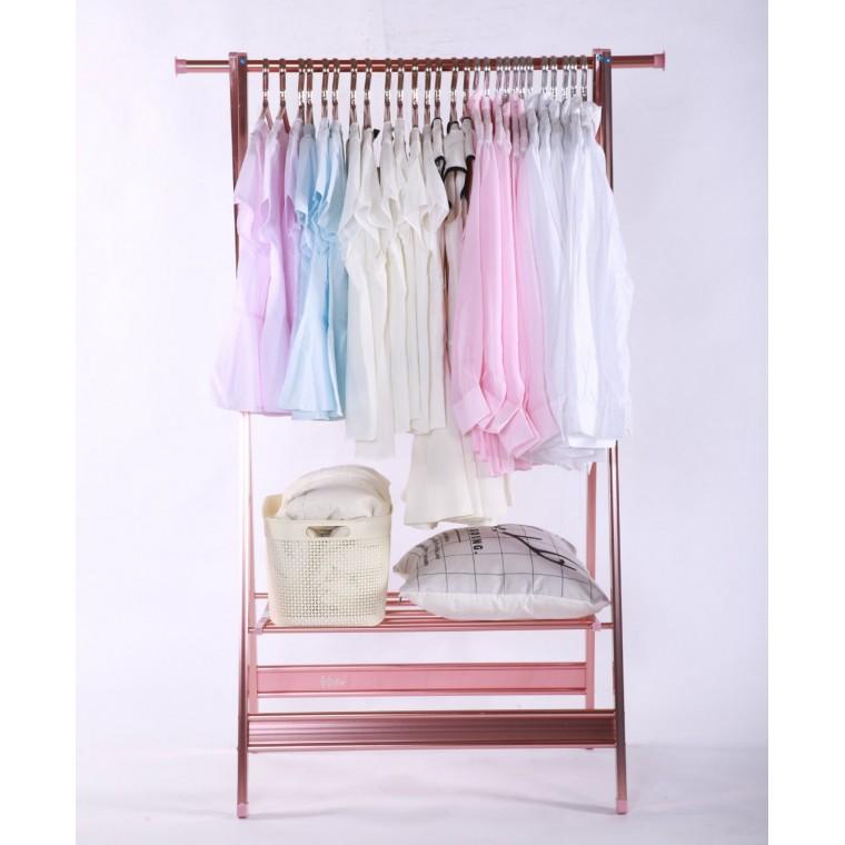 厂家批发卧室挂衣架落地晾衣架阳台晒衣架单杆式晒衣架简易晾衣杆