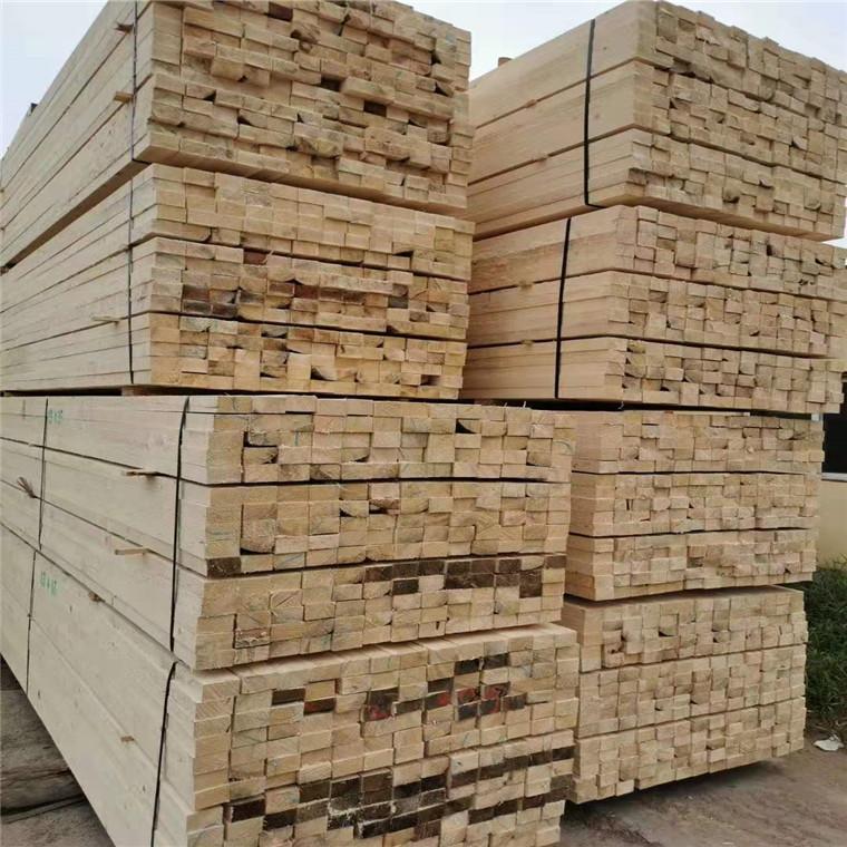 建筑木方白松批发