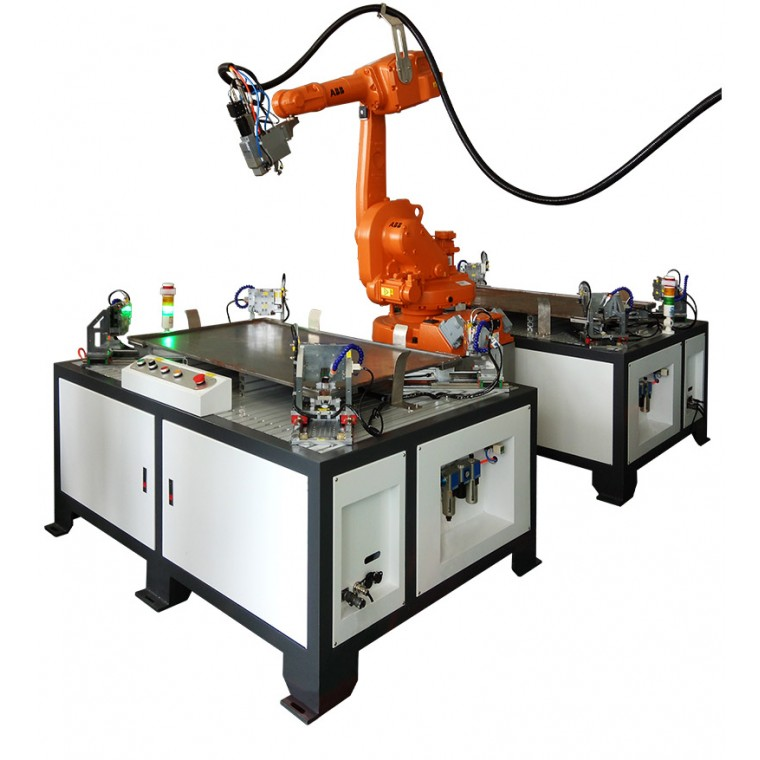 铭镭激光提供双工位机器人激光焊接机