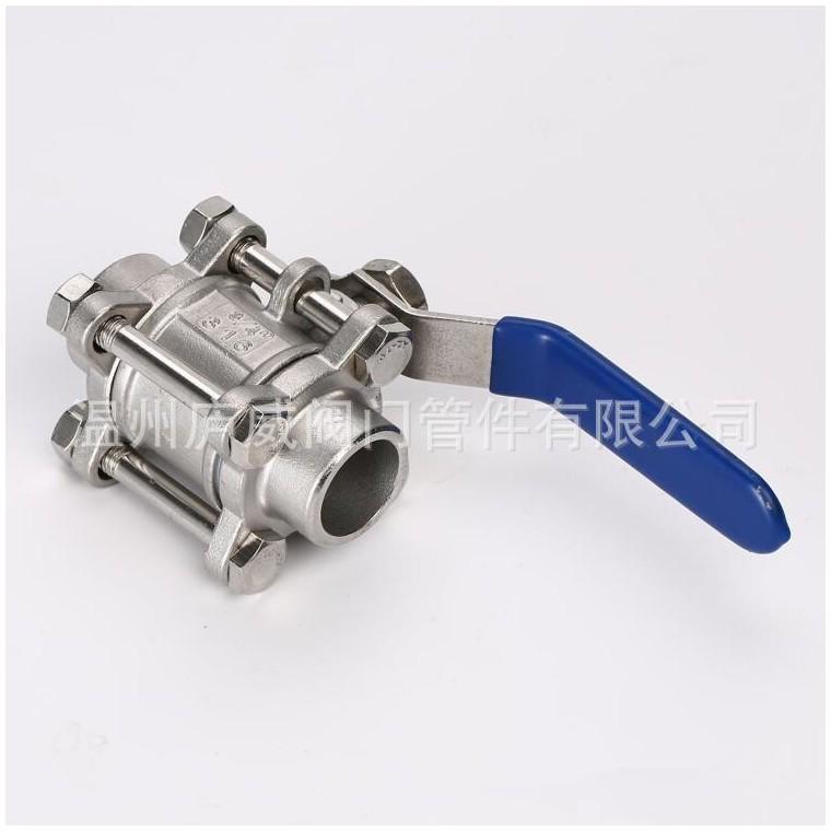 內銷外銷 不銹鋼內螺紋球閥三片式球閥低壓手動閥門