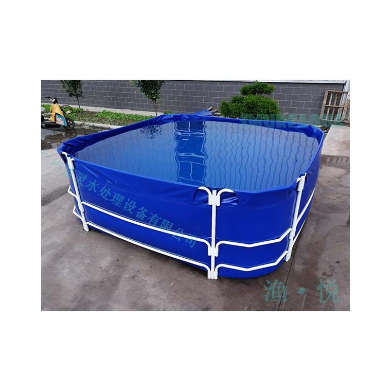 漁悅 帆布水產養殖魚池 可移動折疊魚池