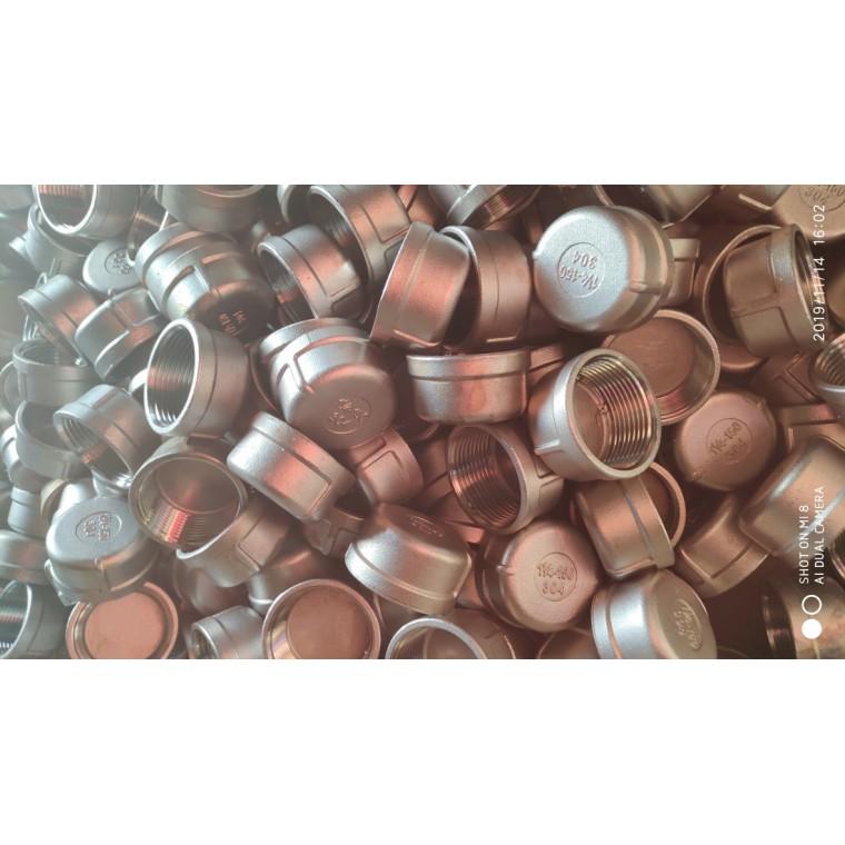 不銹鋼管帽 圓管帽封頭內螺紋連接 硅溶膠 材質正宗
