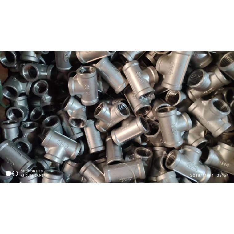 不锈钢内牙三通 内螺纹三通2分-4寸不锈钢丝扣管件大量库存