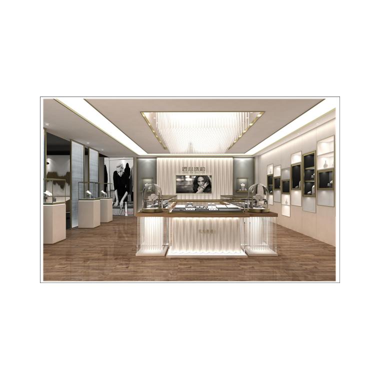深圳高端不銹鋼珠寶展柜定制-珠寶展柜設計制作-品誠展示柜
