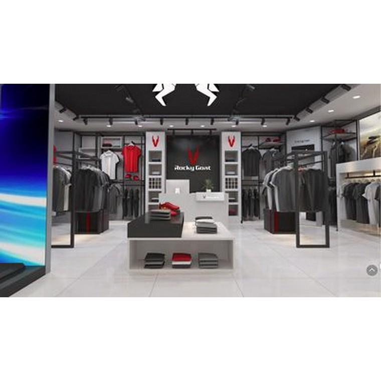 户外运动服装展示柜运动服装展示架服装中岛台运动休闲服装展示柜