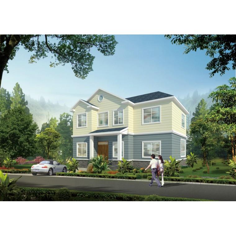 新中式輕鋼別墅,輕鋼房屋造價,新中式農村別墅,歐式別墅設計,