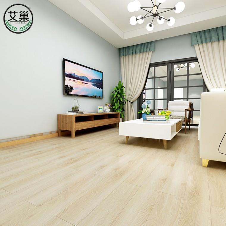 廠家直銷竹木碳纖維石塑地板,淋浴間可用經久耐用鎖扣地板