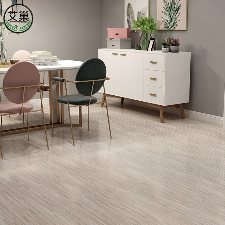 厂家直销PVC商用地板贴,可定制防火防水耐磨耐划免胶地板贴