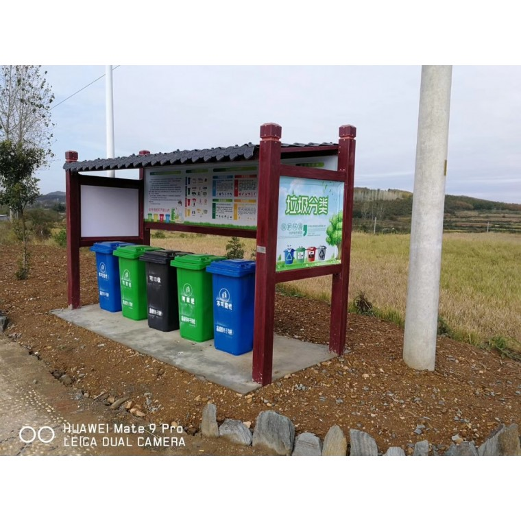 玻璃钢材质垃圾分类亭子厂家直销