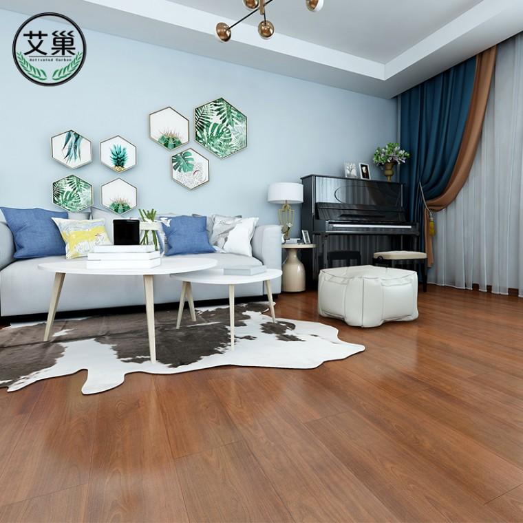 锁扣地板石塑PVC地板,仿复合地板家用卧室耐磨木纹SPC地板