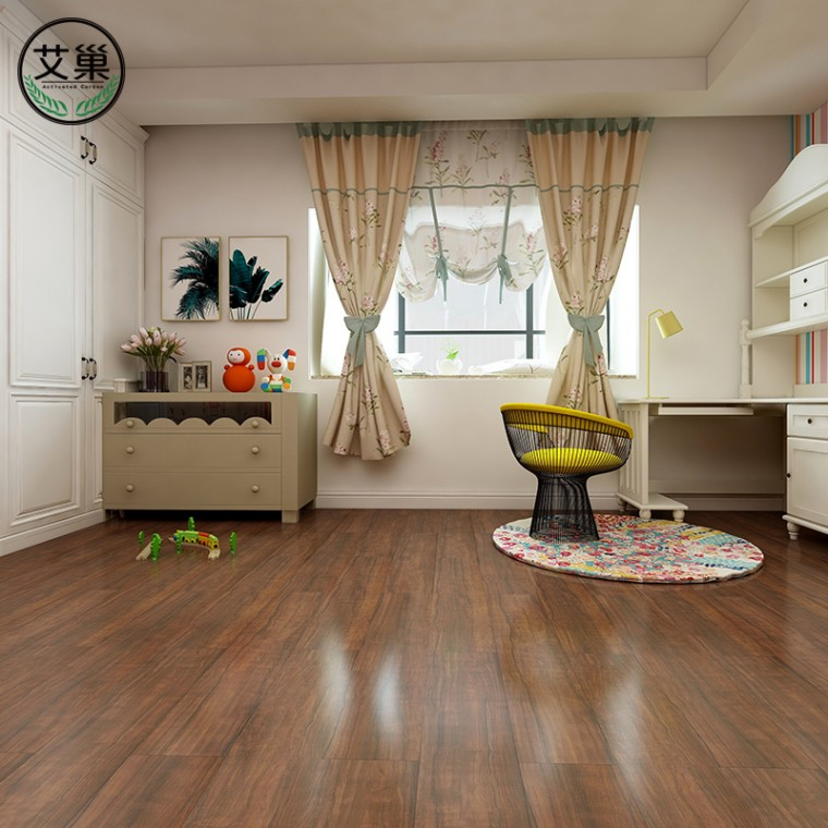 厂家直销SPC石塑地板家用商用,ins风网红SPC卡扣地板贴