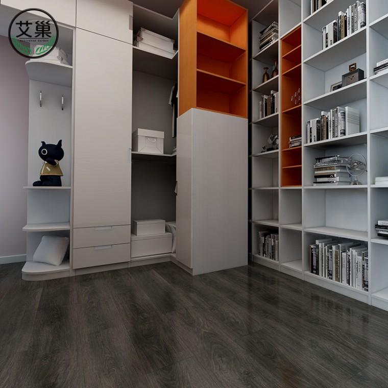 厂家直销pvc卡扣式石塑SPC地板,e0级家用革加厚环保地板