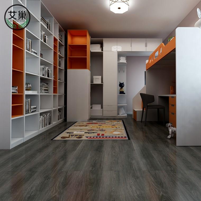 锁扣地板石塑PVC地板革家用,免胶环保SPC卡扣式锁宝片材