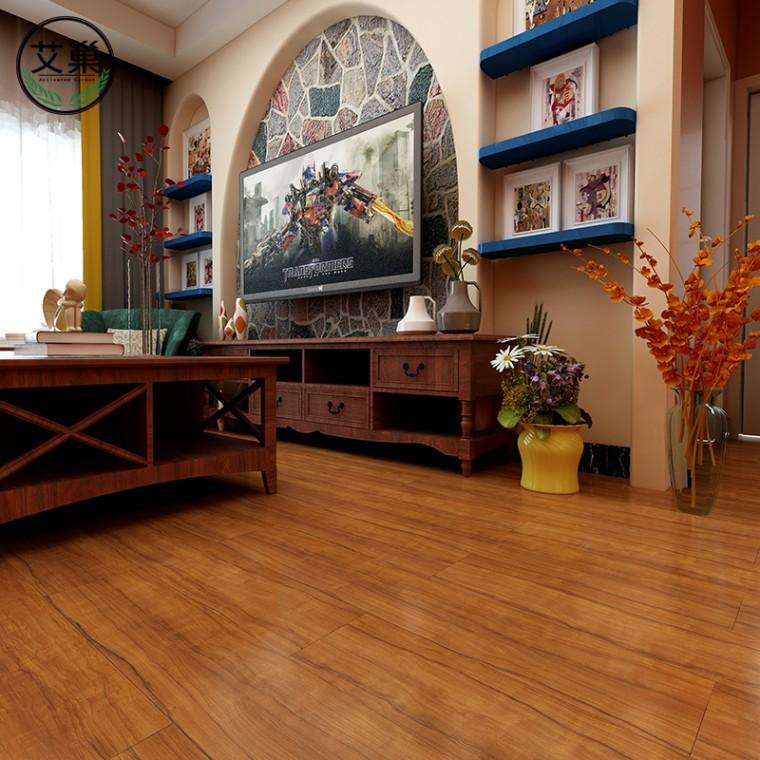 厂家直销卫生间仿实木SPC锁扣地板,卡扣式加厚耐磨石塑地板
