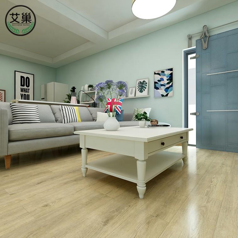 厂家直销锁扣免胶卡扣式家用,加厚耐磨防水地板革地热SPC地板