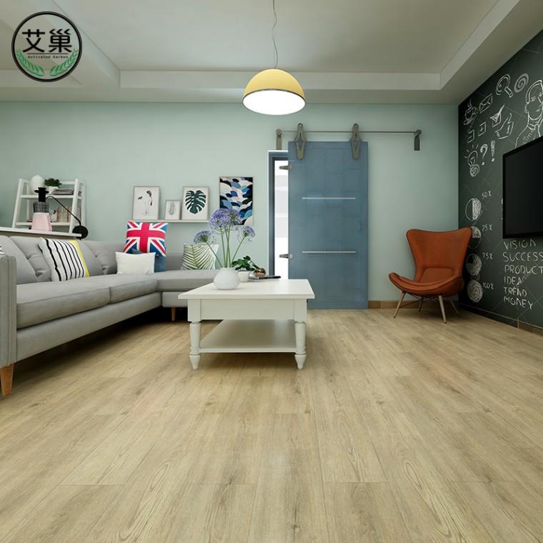 厂家直销仿实木家用地暖锁扣地板,防水锁扣环保卧室餐厅地板