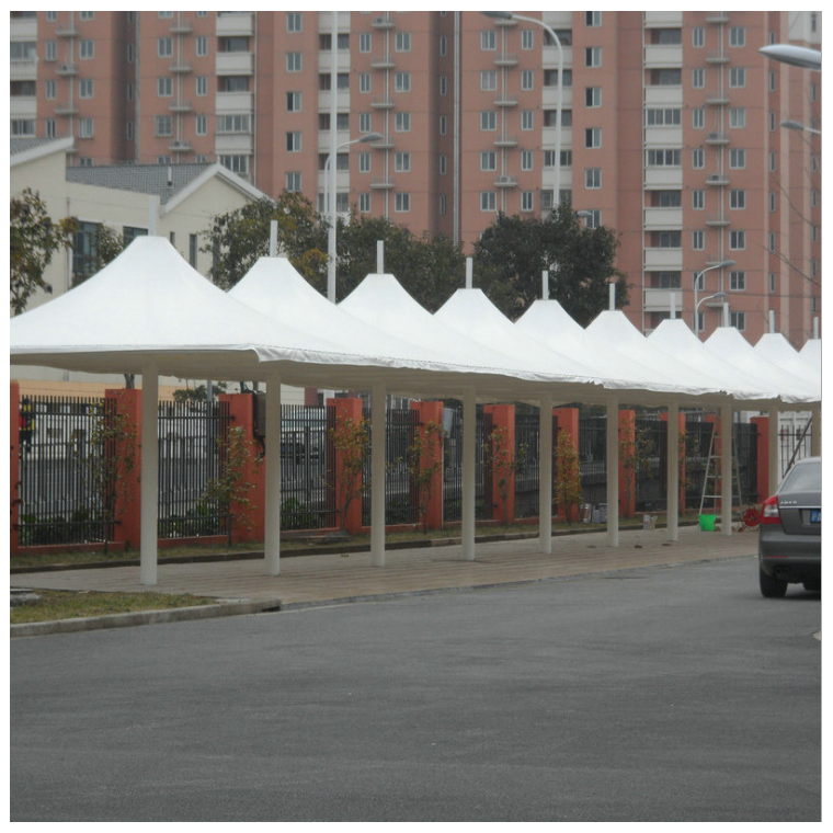 供應充氣式膜結構圖片自行車膜結構停車棚公司價格優惠 質量可靠